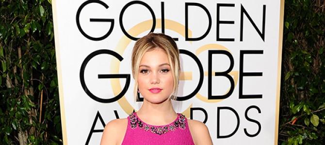Olivia Holt comparece ao Globo de Ouro e à festa pós-evento da revista InStyle e Warner Bros.; veja fotos