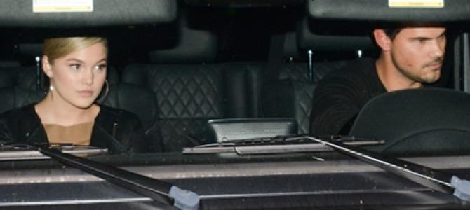 Olivia Holt é clicada indo à igreja com Taylor Lautner e rumores sobre relacionamento aumentam