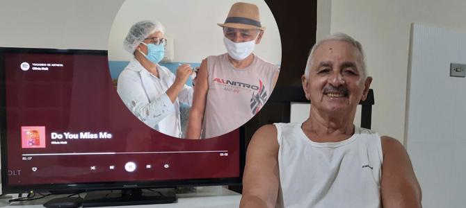 Fã brasileiro da Olivia Holt toma primeira dose da vacina contra a Covid-19 no interior da Bahia